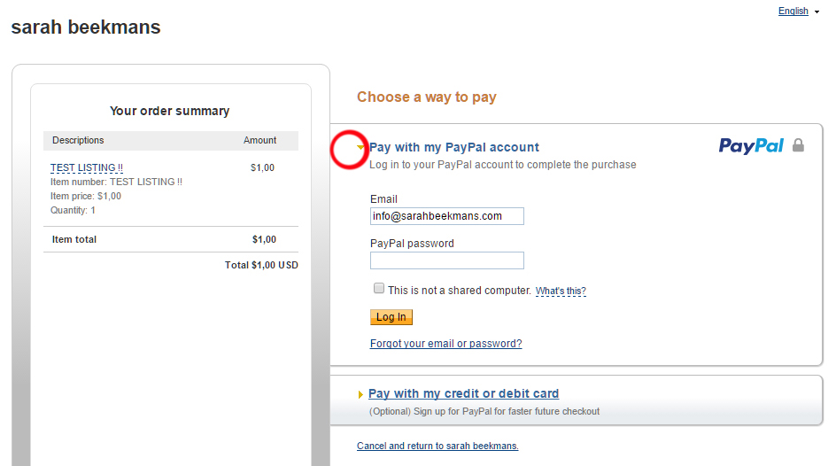 paypal option 1