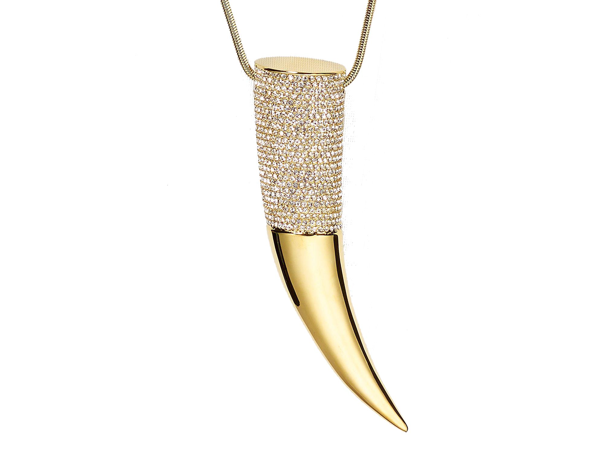 Michael Kors horn pendant necklace