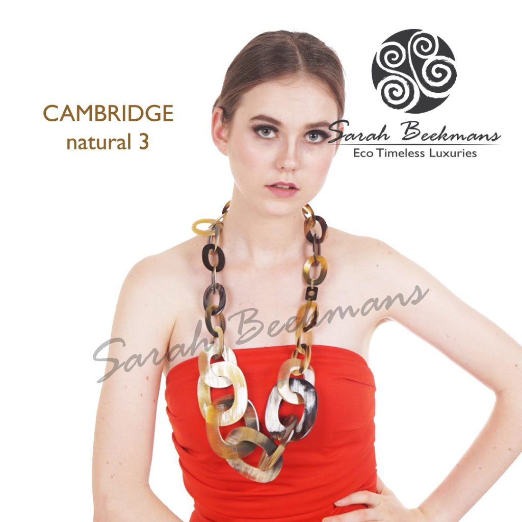 Gold horn necklace cambridge