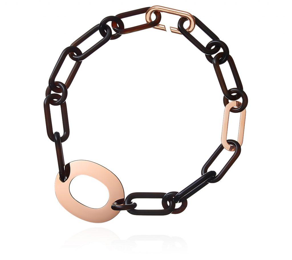 Hermes horn necklace chunky