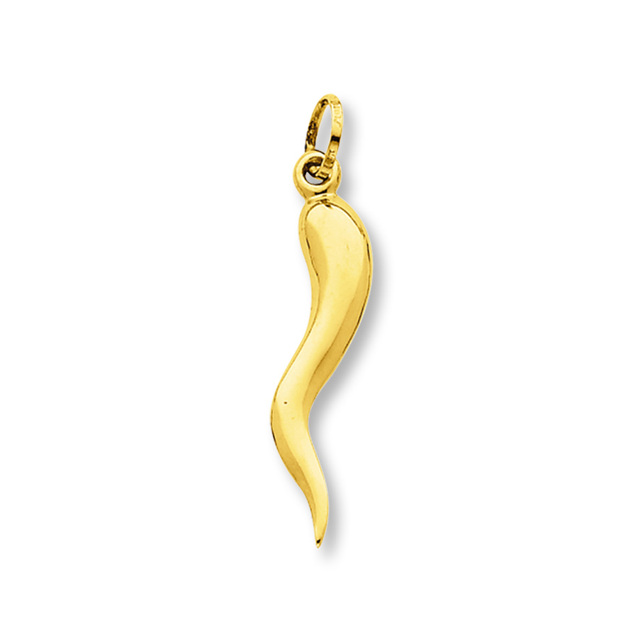 Italian horn necklace gold 2