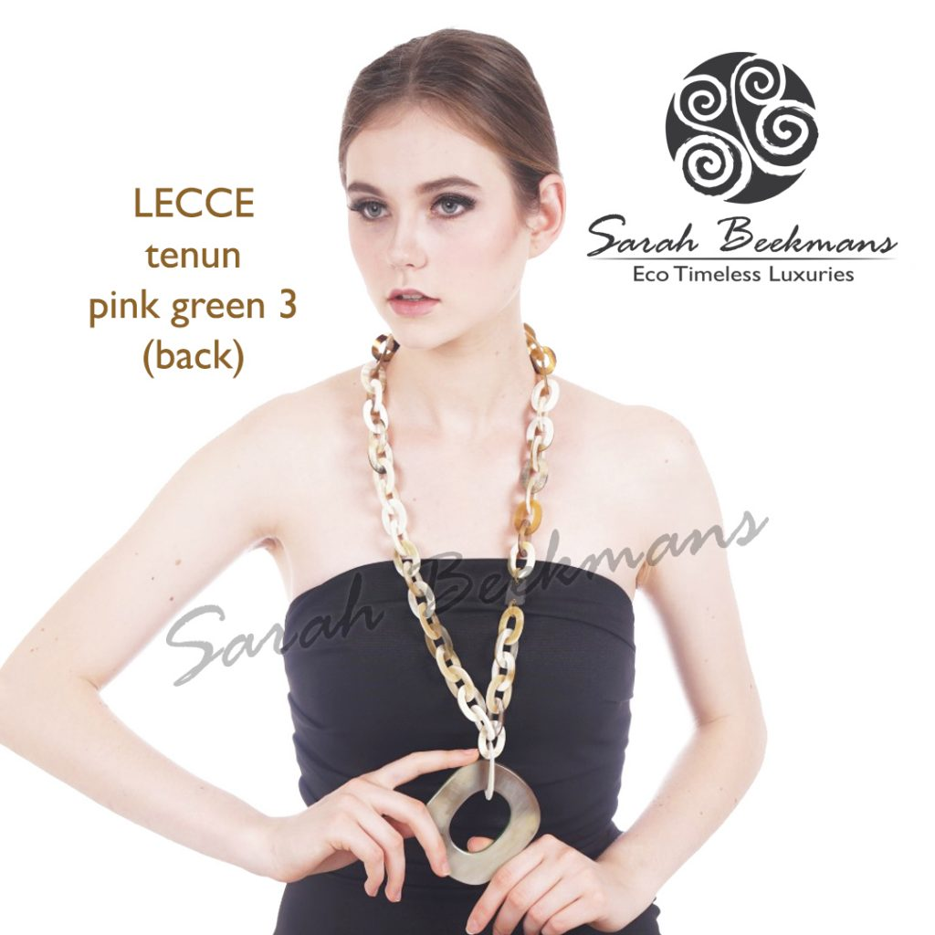 White horn necklace lecce