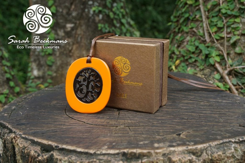 buffalo horn jewelry orange