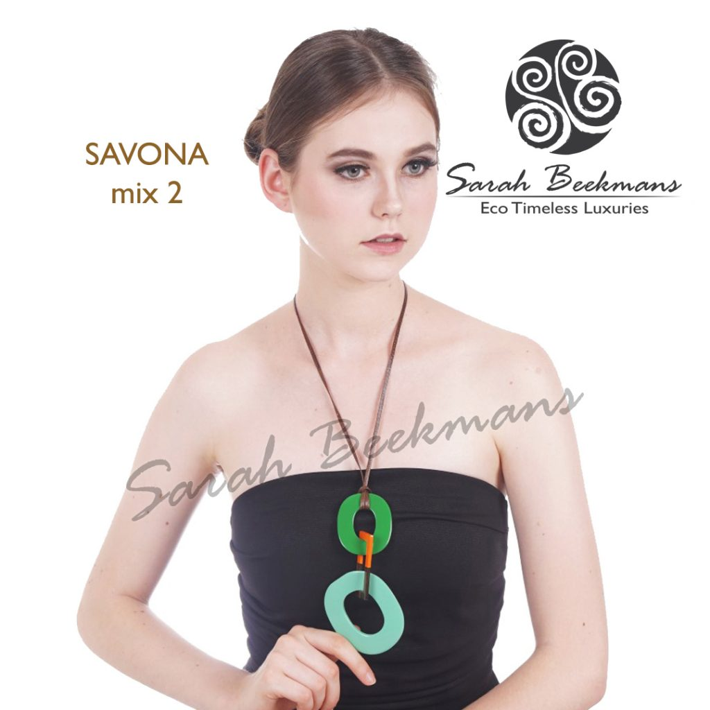Double horn necklace savona