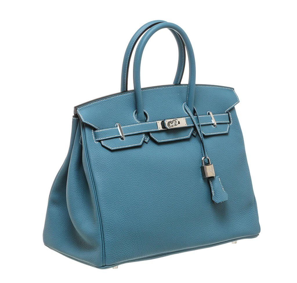 hermes birkin bag blue