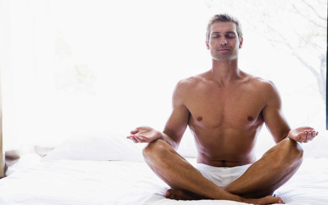 Sexy yoga instructor