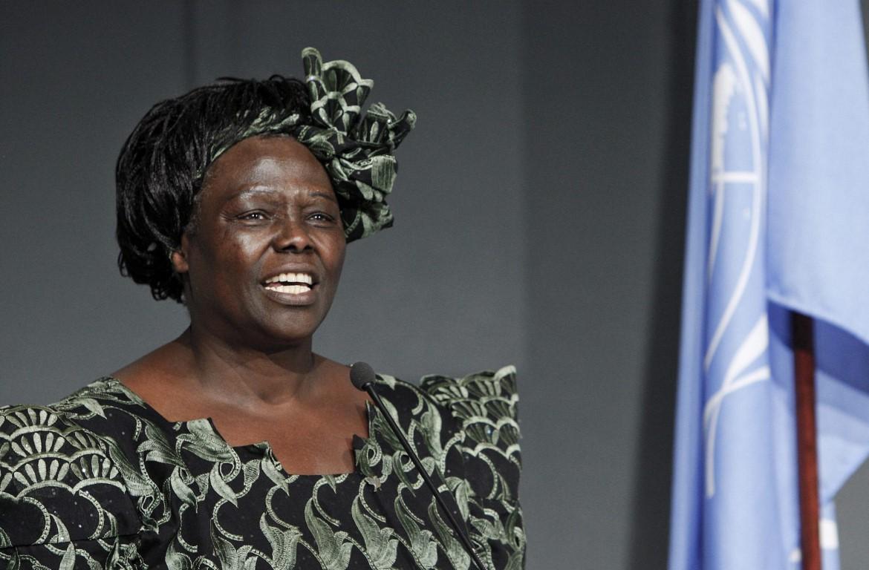 Wangari Maathai Environmental Hero From Kenya Horn Necklace