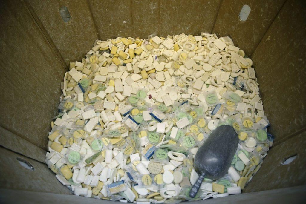 recycled soap sabun daur ulang