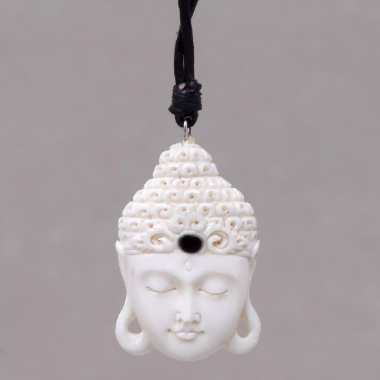 balinese cow bone necklace